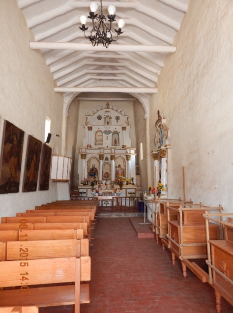 Interior Igreja de Raqchi.